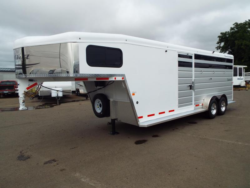 2018 Trails West  Santa Fe 21 ft Gooseneck Horse/Stock Combo Trailer