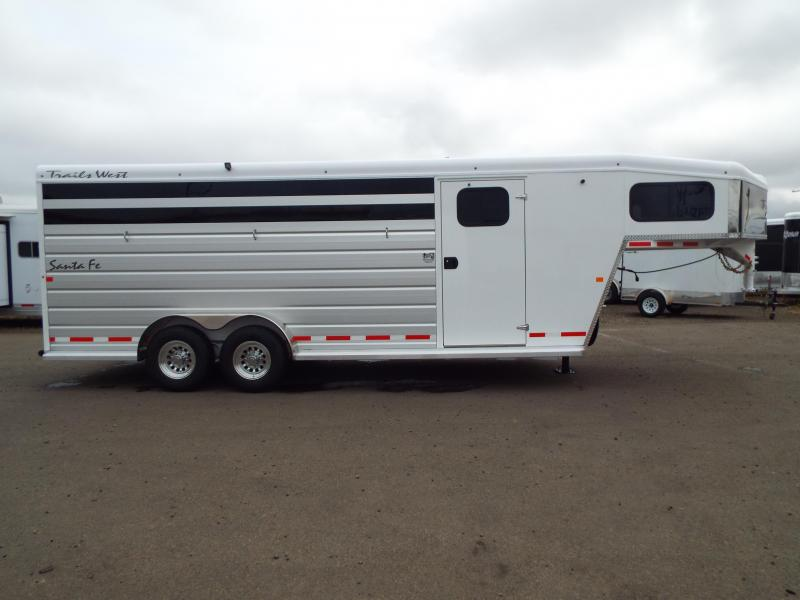2018 Trails West  Santa Fe 21 ft Gooseneck Horse/Stock Combo Trailer