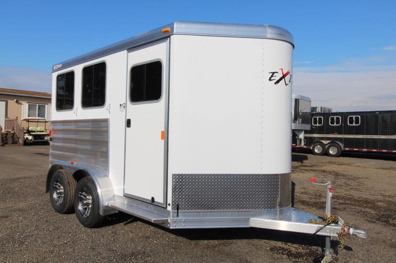 2018 Exiss Express - Upgraded jail bar divider - Carpeted slant wall in tack room - 2 Horse Trailer W/ Polylast Horse Flooring