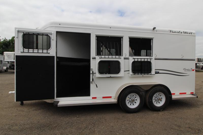 "2017 Trails West Classic 7' 6"" Tall - Escape Door - Aluminum skin - 3 Horse Trailer Price Reduced $300"