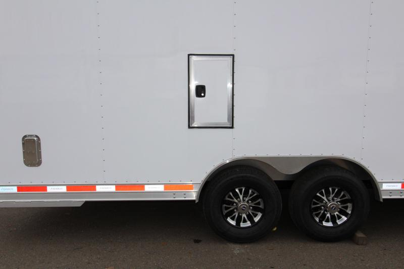 2018 Featherlite 4926 - 22' Enclosed Car Trailer- All Aluminum - Nudo Flooring - Front Nose Ramp - 2 Fuel Doors