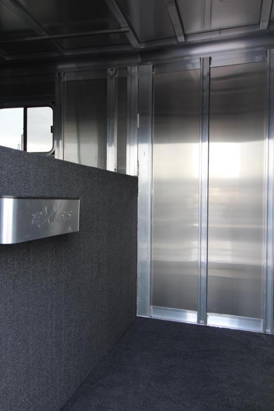 "2018 Exiss 7500 w/ 7000 lb. Axles - 7'6"" Tall - Polylast Flooring -Escape Door- Stud Panel 5 Horse Gooseneck Trailer"