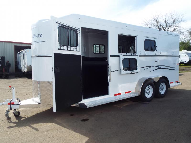"2017 Trails West Classic 3 Horse Trailer - Escape Door - Convenience Package -7'6"" Tall - Warmblood Sized Stalls"