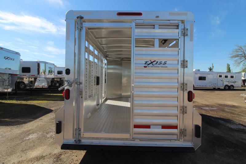 "2017 Exiss STK 713 - 7' 2"" Tall Extruded Alum - Escape Door -13' Livestock Trailer"