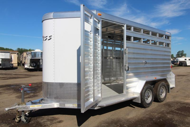 "2017 Exiss STK 713 - 7' 2"" Tall Extruded Alum - Escape Door -13' Livestock Trailer"