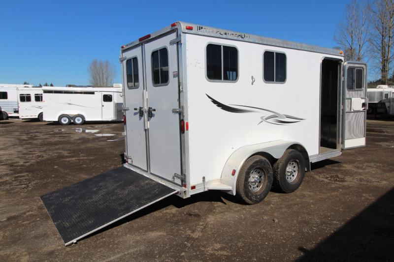 2003 Featherlite 2 Horse Aluminum Trailer W/ Ramp and Rear Tack