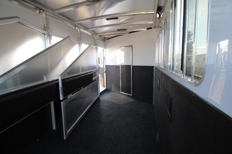 2018 Exiss Escape 7408 - 4 Horse Living Quarters Trailer W/ Easy Care Flooring