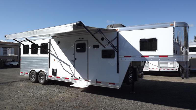 "2017 Exiss Endeavor 8310 Alum. 8' Wide 7'8"" Tall 10' SW 3 Horse Living Quarters Trailer W/ Upgraded Interior"
