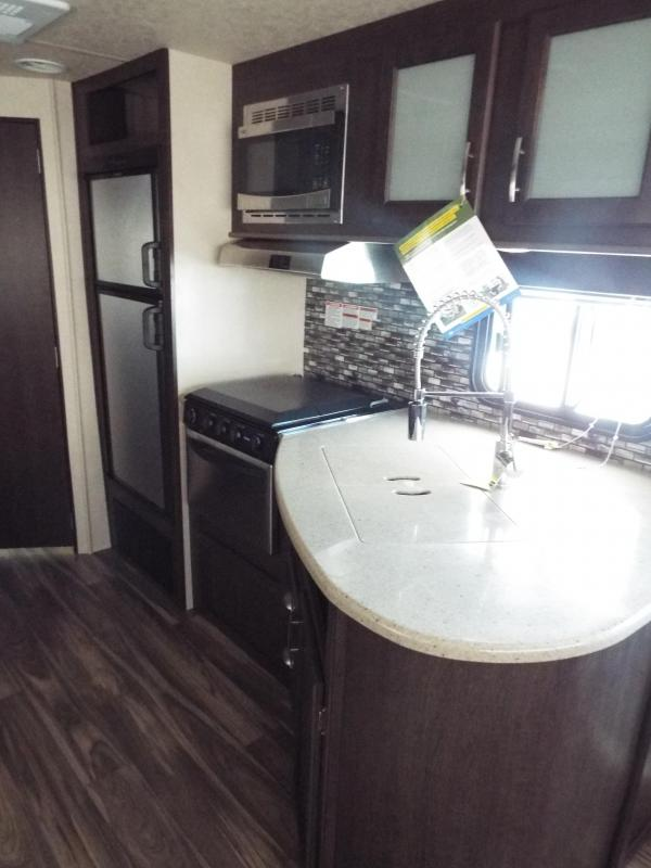 2018 Forest River EVO Travel Trailer 2460 - Arctic Package - Go Pro Solar Prep - Dinette in Slide out - Sofa - Silver Birch Interior Decor