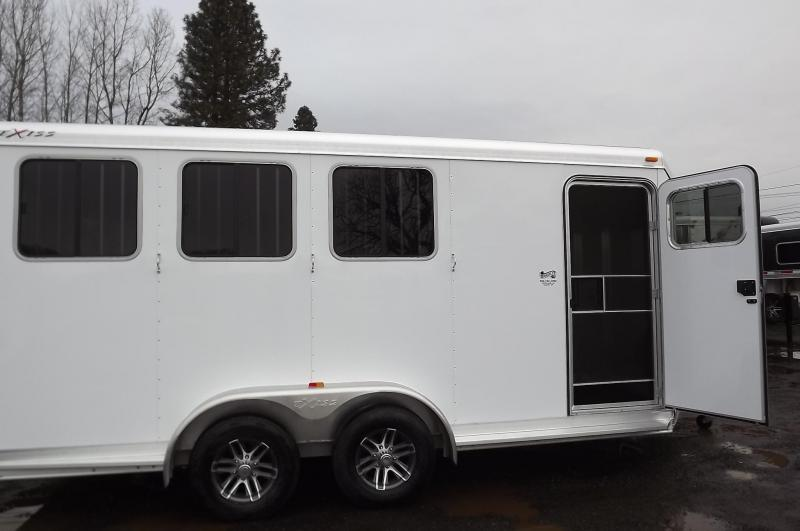 "2017 Exiss 730 All Aluminum 7'2"" Tall Rear Tack 3 Horse Trailer Price REDUCED $500"