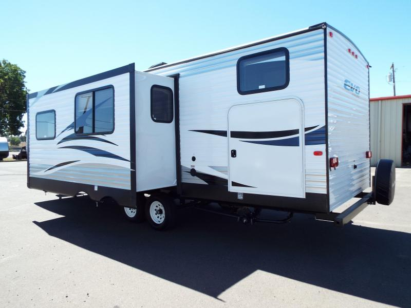 2017 Evo Model 2700 Travel Trailer - Triple Bunks on Power Lift System - Power Jacks & Awning - Arctic Package - Stainless Steel Appliances - Sleeps 9!