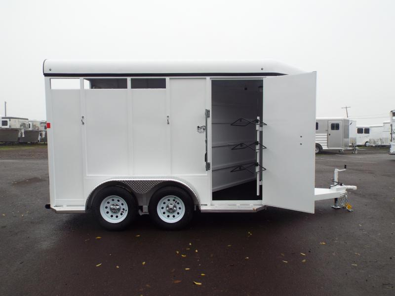 2016 Fabform Vision 2 HorseGalvanized Steel Trailer w/ Swinging Tack Wall - Swing Our Saddle Racks - 7'4