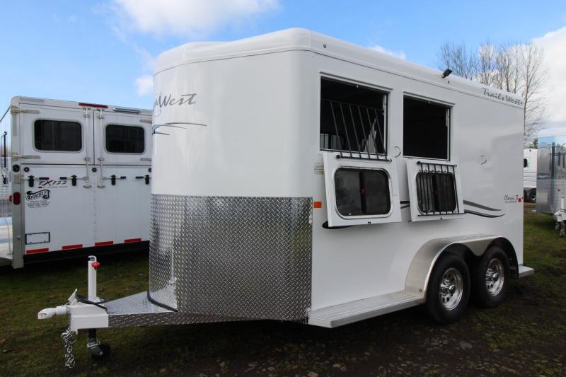 "2018 Trails West Classic II 7' 6"" Tall 2 Horse Trailer - Aluminum Skin Steel Frame"