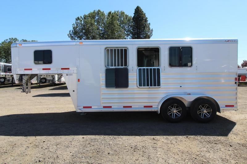 "2017 Exiss Express XT - 7' 2"" Tall - Gooseneck 3 Horse Trailer"