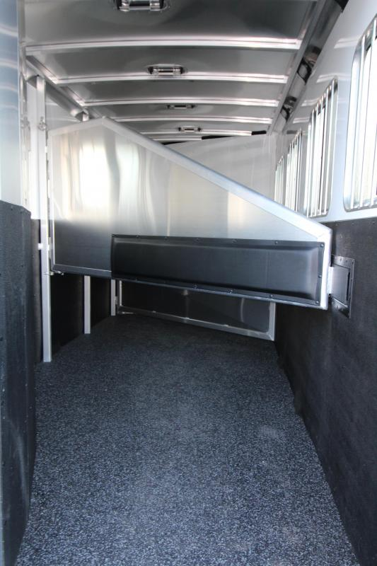 "2018 Exiss 7410 10' SW LQ w/ Slide Out - 4 Horse All Aluminum Trailer - 7'8"" Tall - Power Awning - Aluminum Wheels - Easy Care Flooring"