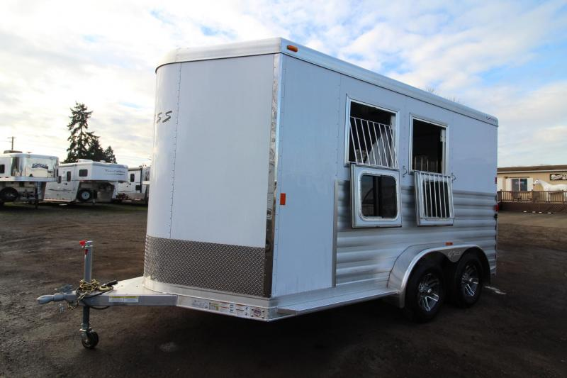 "2018 Exiss 720 Horse Trailer -7'6"" Tall - Lined & Insulated Ceiling - Polylast flooring - Large Tack Room"