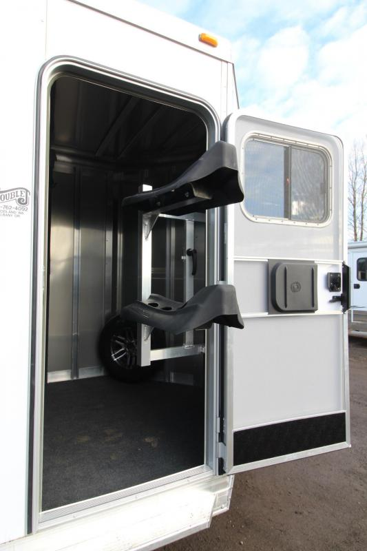 """2018 Exiss 720 Horse Trailer -7'6"""" Tall - Lined & Insulated Ceiling - Polylast flooring - Large Tack Room"""
