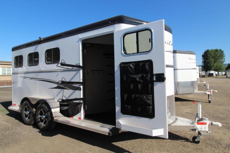 "2017 Trails West Sierra 7'6"" Tall - Aluminum Skin - Conv. Pkg 3 Horse Trailer"