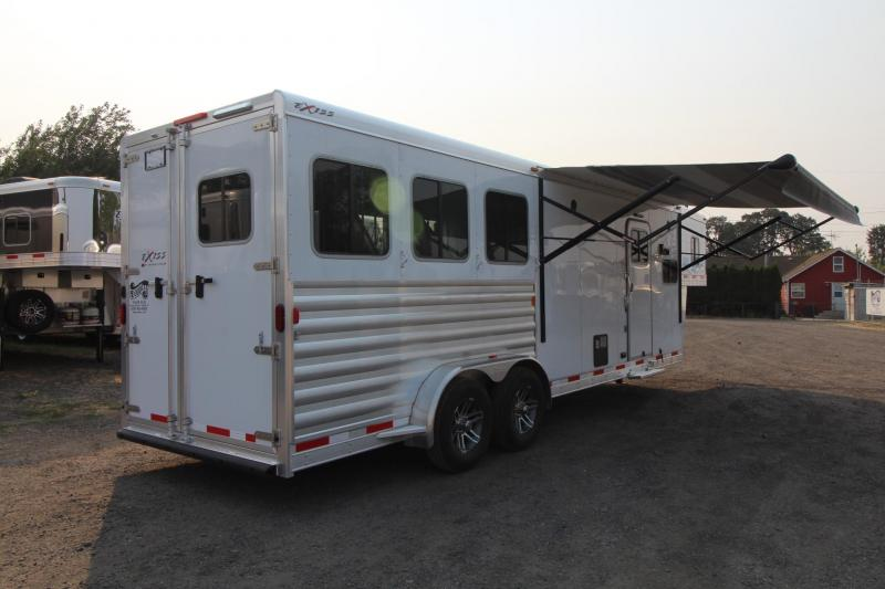 "2017 Exiss Escape 7310 - 10' Short wall - 7'8"" Tall - Solid Wood Interior Upgrade + Many More!  Escape Door and Stud Panel - 3 Horse Trailer"