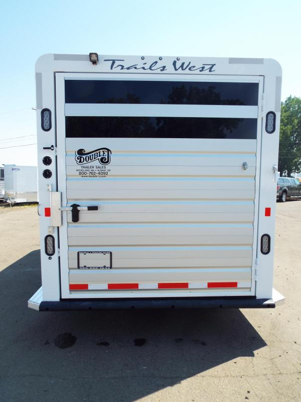 2017 Trails West Santa Fe - Steel Frame Aluminum Skin - 3 Horse Trailer - Removable Plexi Glass Inserts - Fully Enclosed Tack Room - Swing Out Saddle Rack  - First Stall Escape Door