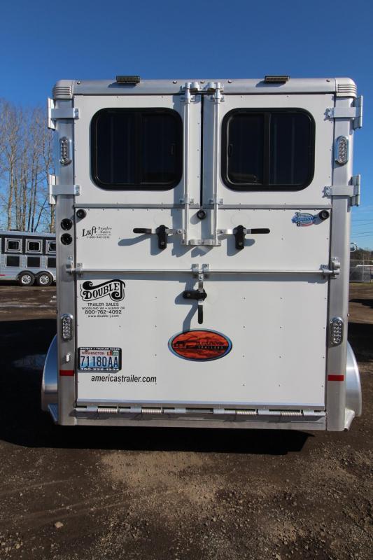 2018 Sundowner Charter Straight Load 2 Horse Warmblood Trailer - Ramp w/ Dutch Doors - Two Escape Doors