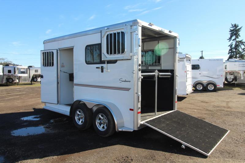 2018 Sundowner Charter Straight Load 2 Horse Warmblood Trailer - Ramp w/ Dutch Doors - Two Escape Doors