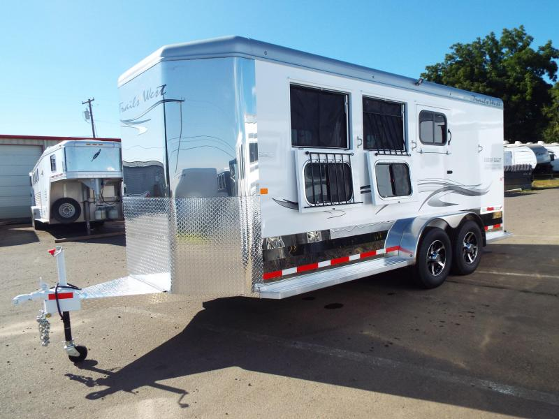 2018 Trails West Sierra Select Aluminum Vacuum Bonded Walls & Roof Alum Wheels 3 Horse Trailer