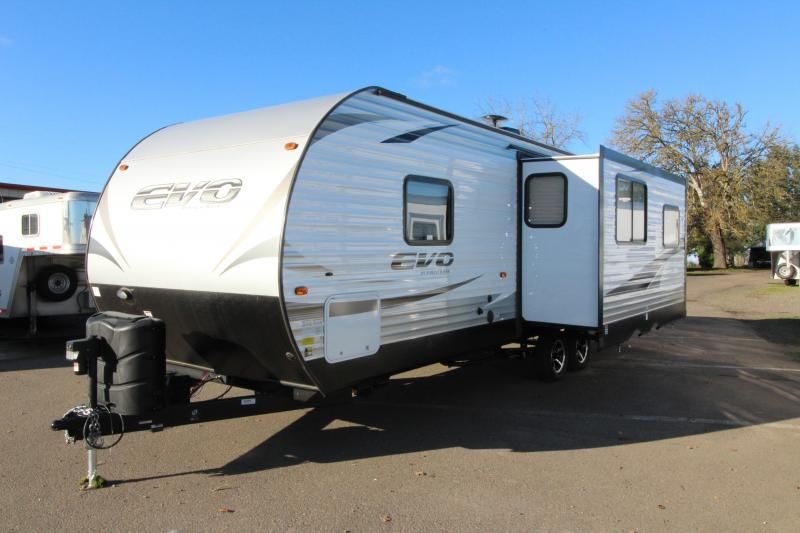"2018 Forest River EVO 2600 - 26'5"" Box Length - w/ Slide Out - Arctic Package - Reclining Chairs - Solar Prep - Silver Bitch Interior Decor"