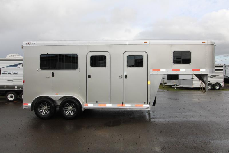 2018 Exiss Trailers 7200 Straight Load Gooseneck All Aluminum 2 Horse Trailer