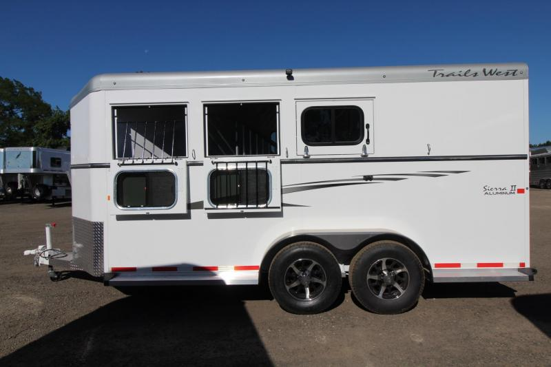 "2017 Trails West Sierra 7'6"" Tall - Aluminum Skin - Conv. Pkg 3 Horse Trailer"