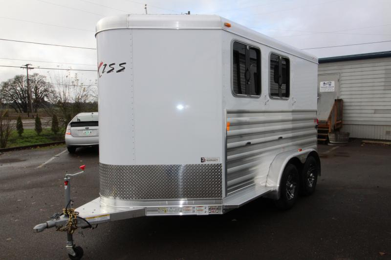 2018 Exiss Express XT 2 Horse Trailer - All Aluminum - UPGRADED EASY CARE FLOORING - Upgraded Jail Bar Divider