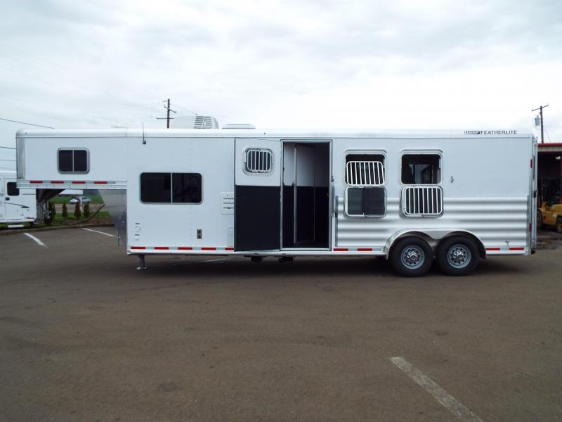 "NEW 2016 Featherlite 8533 -PRICED BELOW DEALER COST!! 3 Horse - 9.5 ft SW LQ - 7.5 ft Tall 6'7"" Wide - All Aluminum - Beautiful Interior- REDUCED $8500"
