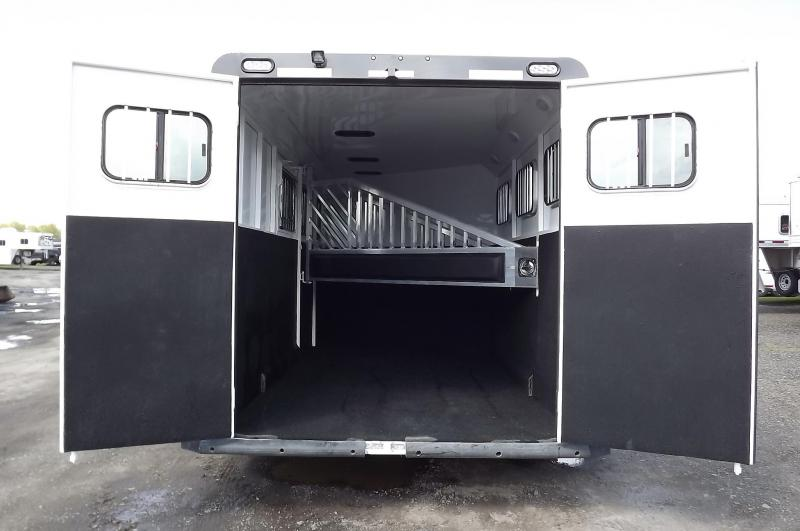 2017 Trails West Sierra - Aluminum skin steel frame - Lined and Insulated Roof - 3 Horse Trailer