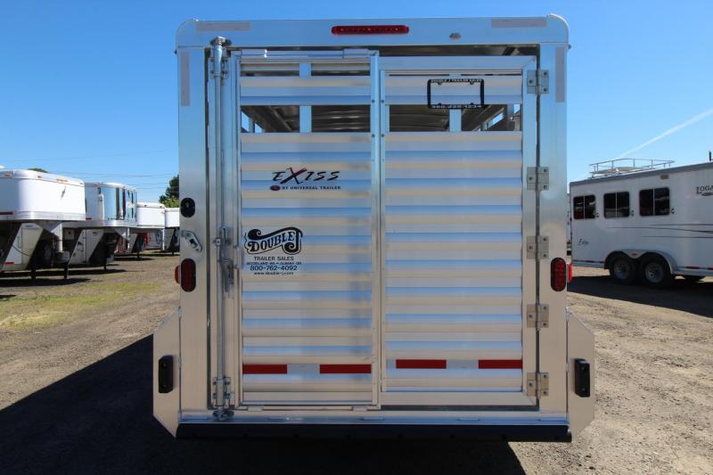"""2017 Exiss STK 716 - 7' 2"""" Tall - Sliding gate in rear door - Livestock Trailer"""
