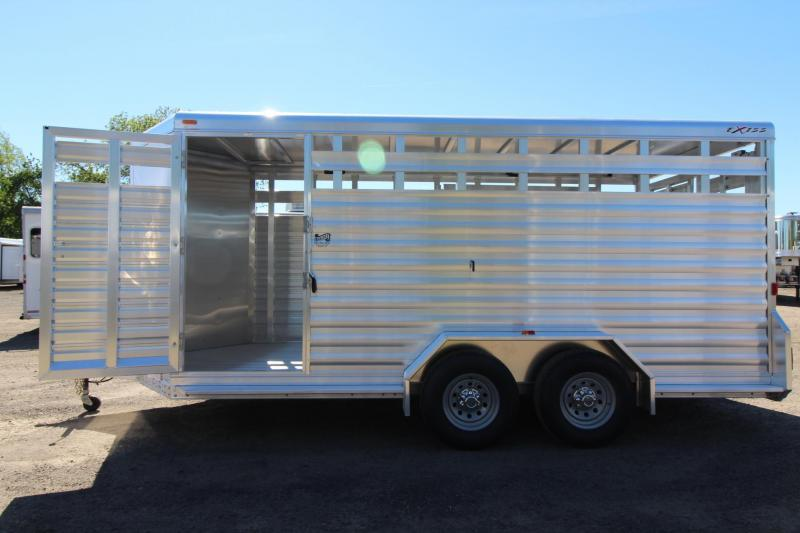 "2017 Exiss STK 716 - 7' 2"" Tall - Sliding gate in rear door - Livestock Trailer"