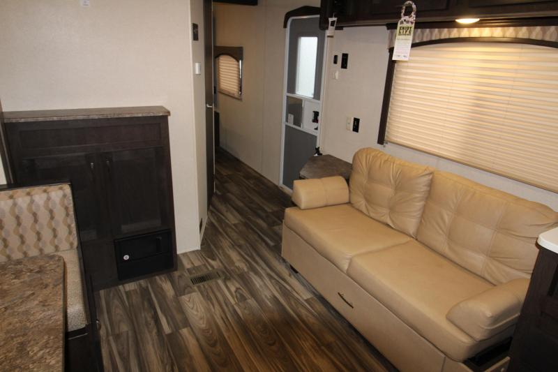 2018 Forest River EVO 2360 - Slide Out - Large Rear Kitchen - Solar Power - Arctic Package - Golden Ash Interior Color