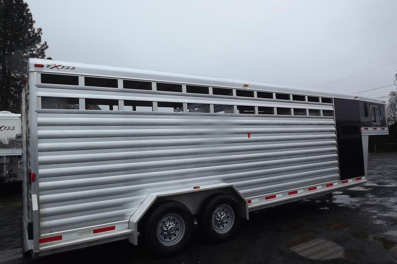 """2017 Exiss STC 7024 24' Stock Combo Trailer - 7'2"""" Tall - Extruded Aluminum"""