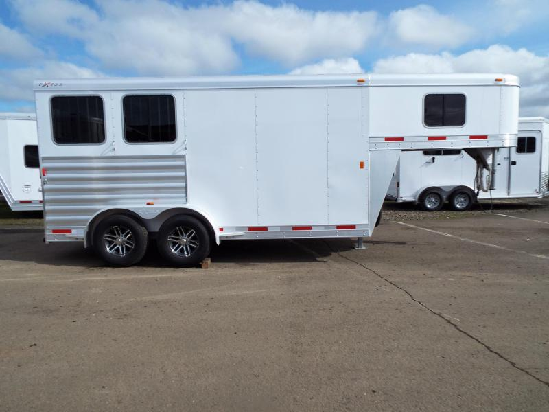 "2017 Exiss Trailers 7200 - 2 Horse Trailer 7'2"" Tall - All Aluminum"