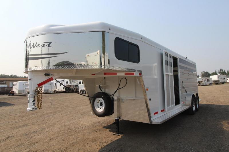 2018 Trails West Santa Fe 21ft stock combo Trailer W/ Tack Room