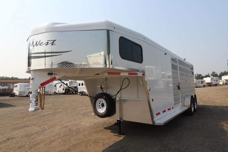 2018 Trails West Santa Fe 21ft stock combo Trailer W/ Tack Room