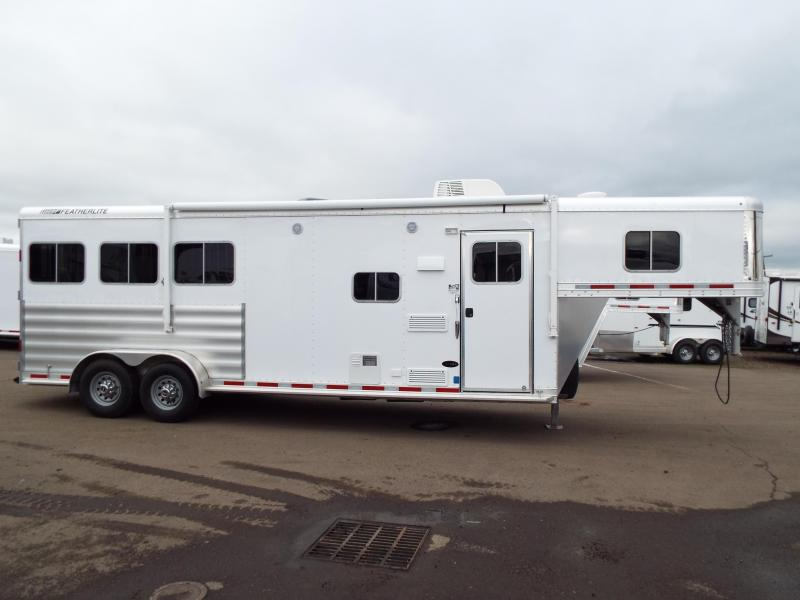 "NEW 2016 Featherlite 8533 - 3 Horse- Priced BELOW DEALER COST!! - 7'6"" SW LQ - 7'6"" Tall 6'7"" Wide - All Aluminum - REDUCED $8200"