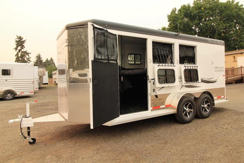 2018 Trails West Sierra Select -Escape Door- Aluminum Vacuum bonded walls and roof - Lined and Insulated - Escape door - 3 Horse Trailer