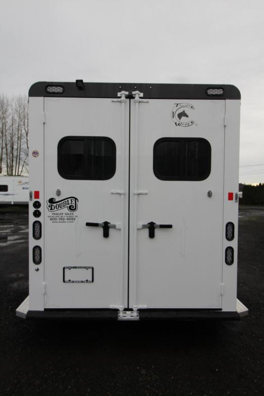 "2018 Trails West Sierra Select 7' 6"" Tall 2 Horse Trailer - Seamless Aluminum Vacuum Bonded Walls and Roof - Lined and Insulated"