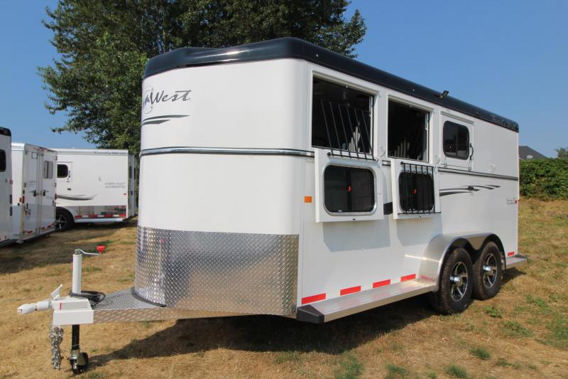 2017 Trails West Sierra - Aluminum skin steel frame - Lined and Insulated Roof - 3 Horse Trailer Price Reduced $150