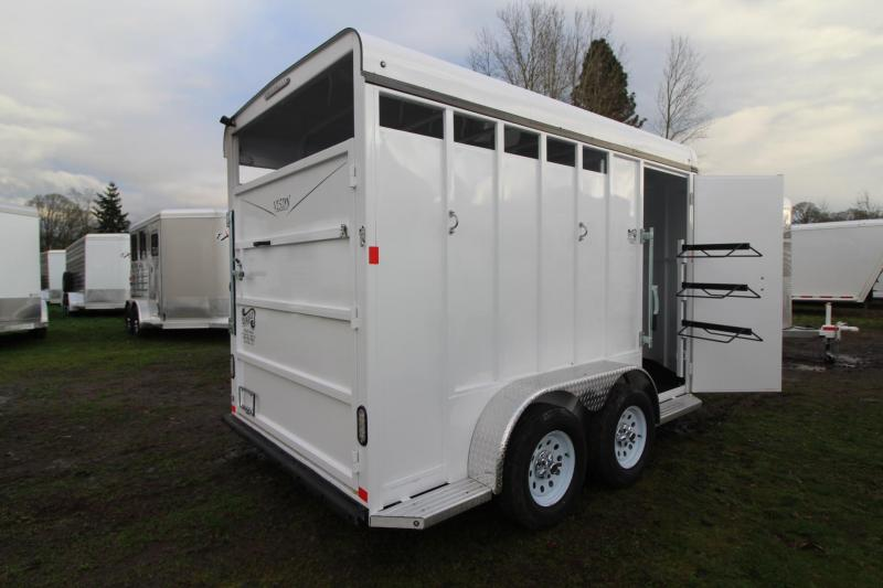 "2018 Fabform Vision 2 Horse Trailer 7'4"" Tall - Swing our saddle rack - Load light - Adjustable Dividers"
