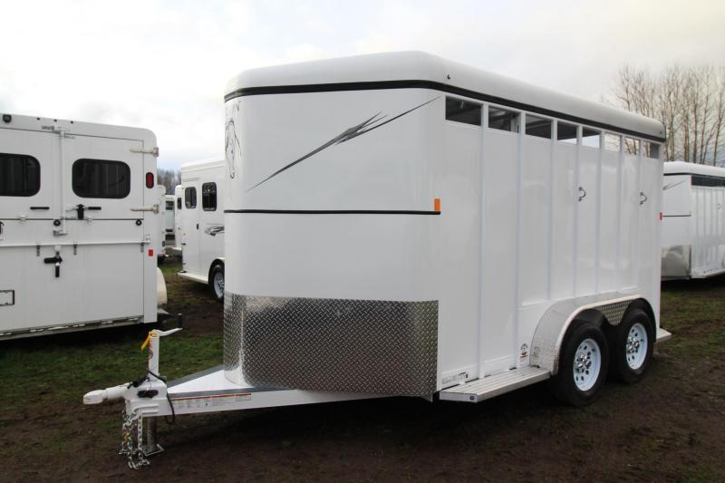 "2018 Fabform Vision 2 Horse Trailer 7' 4"" T - Swing our saddle rack - Load light - Adjustable Dividers"
