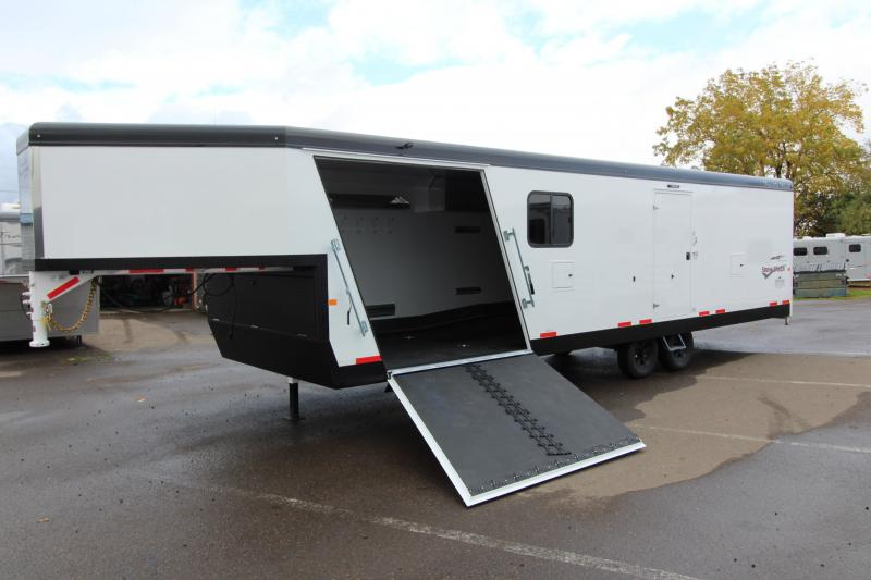 2018 Trails West RPM Burandt Edition Snow Check Snowmobile Trailer - 28 ft Gooseneck
