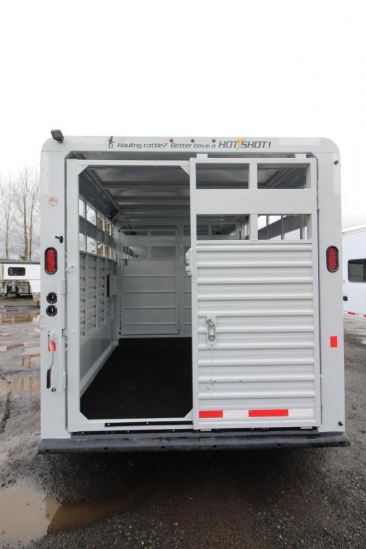 2018 Trails West Hot Shot 16ft Livestock Trailer W/ Center Gate Upgraded w/ Sort Door