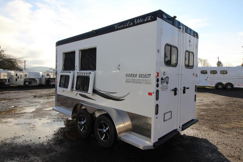 2018 Trails West Sierra Select 2 Horse Trailer - Seamless Aluminum Vacuum Bonded Walls and Roof - Lined and Insulated