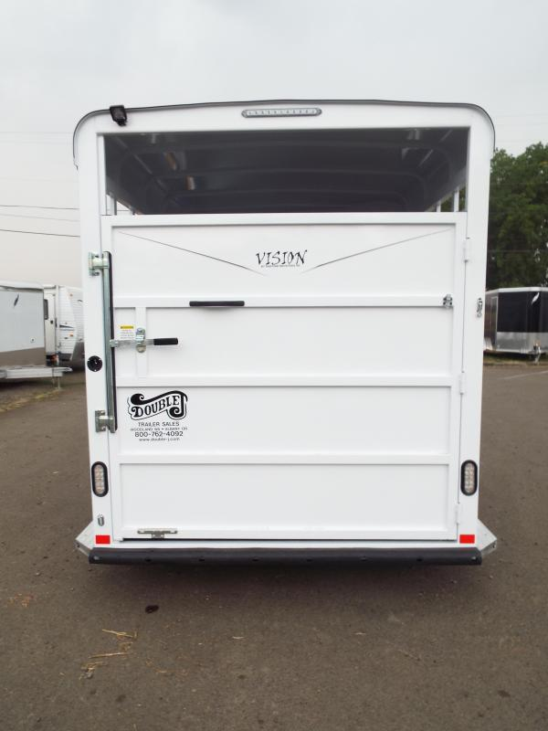 2018 Fabform Vision 2 Horse w/ SolidTack Wall - Galvanized Steel Trailer
